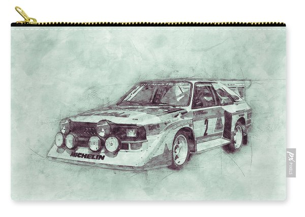 Audi Quattro 3 - Rally Car - 1980 - Automotive Art - Car Posters Carry-all Pouch