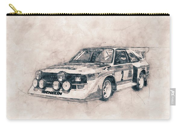 Audi Quattro - Rally Car - 1980 - Automotive Art - Car Posters Carry-all Pouch
