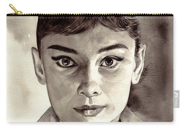 Audrey Hepburn Black And White Carry-all Pouch