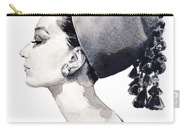 Audrey Hepburn For Vogue 1964 Couture Carry-all Pouch