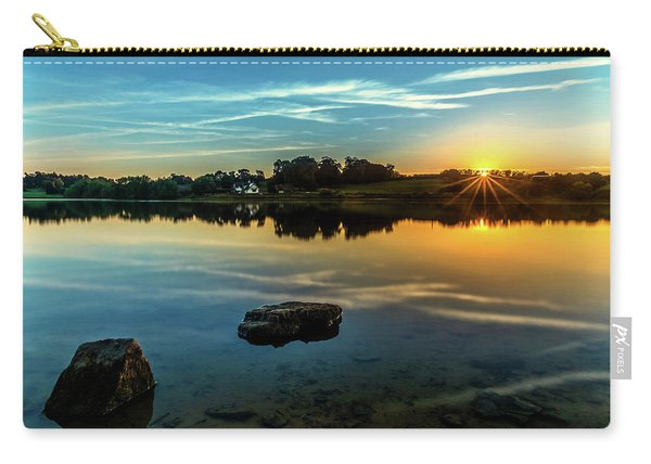 Carry-all Pouch featuring the photograph August Sunset by Nick Bywater