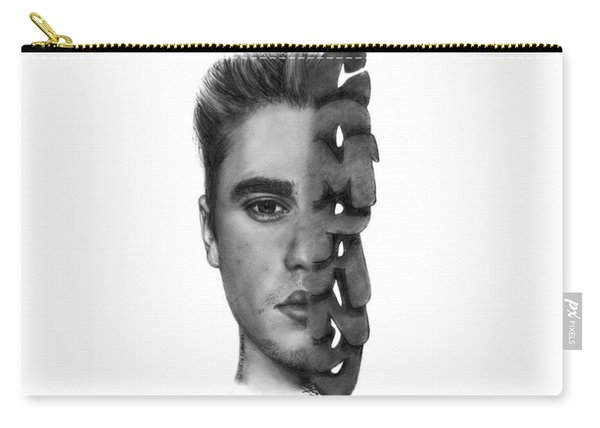Justin Bieber Drawing By Sofia Furniel Carry-all Pouch