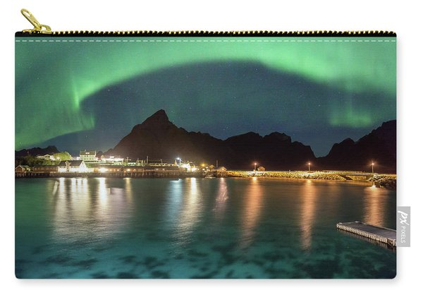 Aurora Above Turquoise Waters Carry-all Pouch
