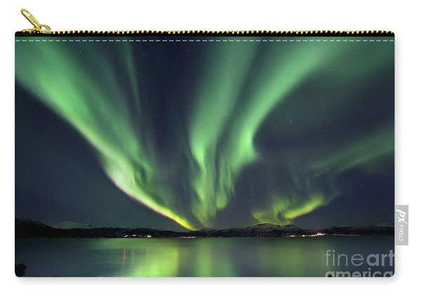 Aurora Borealis Over Tjeldsundet Carry-all Pouch