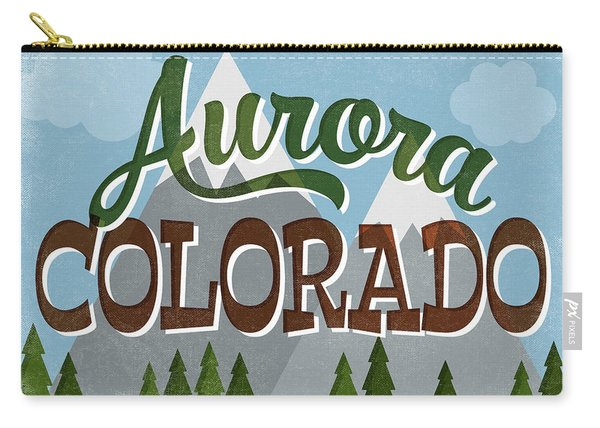 Aurora Colorado Snowy Mountains Carry-all Pouch
