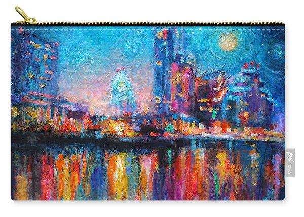 Austin Art Impressionistic Skyline Painting #2 Carry-all Pouch