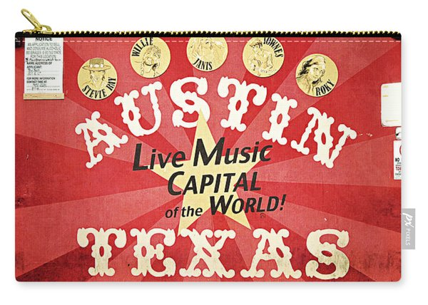Austin Live Music Carry-all Pouch