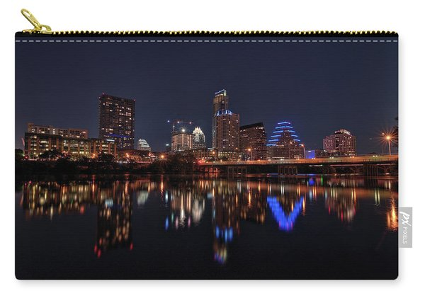 Austin Skyline At Night Carry-all Pouch