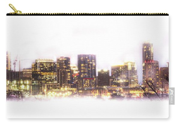 Austin Texas Skyline With White Blackground  Carry-all Pouch