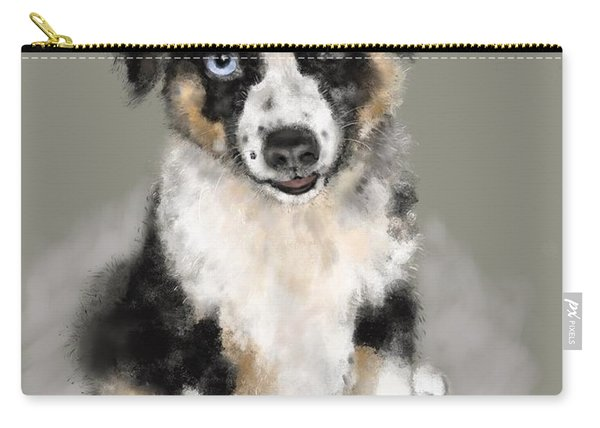 Australian Shepherd Pup Carry-all Pouch