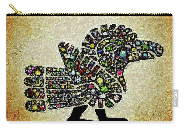 Authentic Aztec Wall Art Carry-all Pouch
