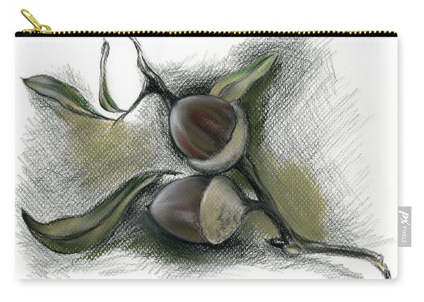 Autumn Acorns On An Oak Twig Carry-all Pouch