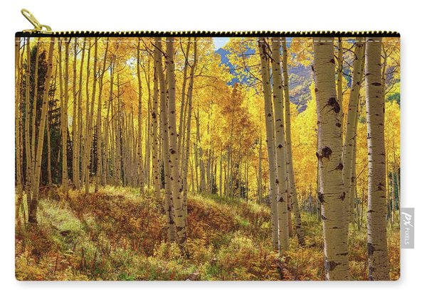 Autumn Aspen Forest Aspen Colorado Panorama Carry-all Pouch