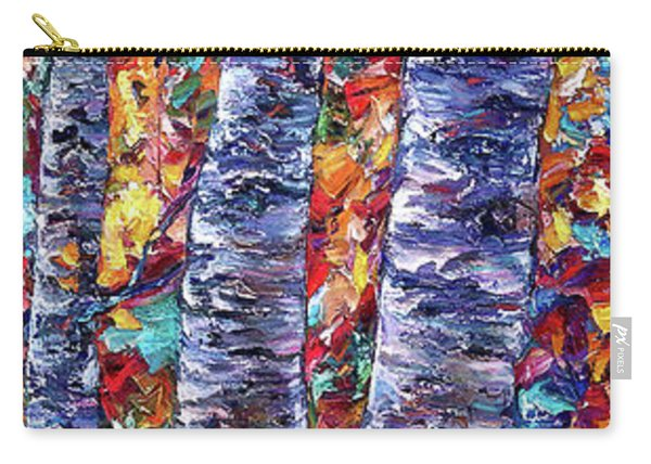 Autumn  Aspen Trees Contemporary Painting  Carry-all Pouch