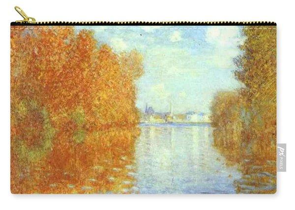 Autumn At Argenteuil Claude Oscar Monet Carry-all Pouch