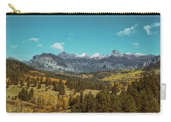 Carry-all Pouch featuring the photograph Autumn At The Weminuche Bells by Jason Coward