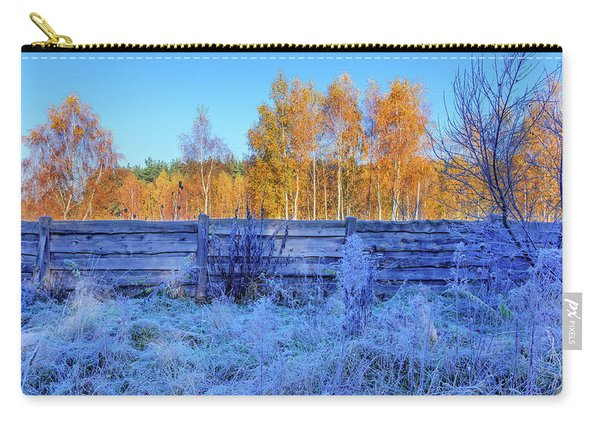 Carry-all Pouch featuring the photograph Autumn Behind by Dmytro Korol