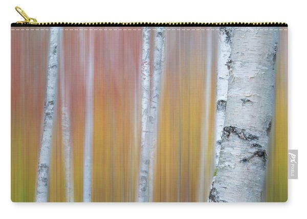 Autumn Birch Impressions Carry-all Pouch