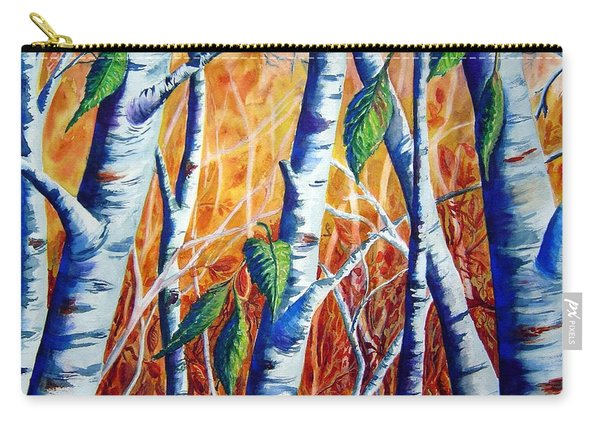Autumn Birch Carry-all Pouch
