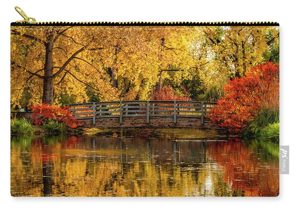 Autumn Color By The Pond Carry-all Pouch
