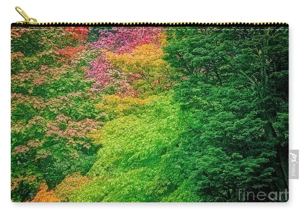 Autumn Colors On Acer Tree Leafs Carry-all Pouch