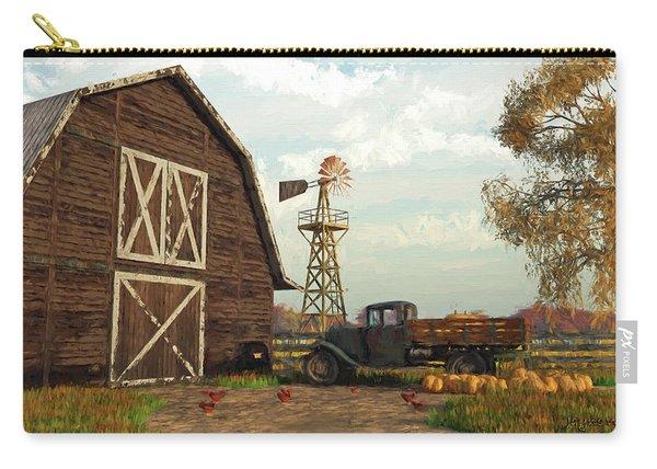 Autumn Farm Scene Carry-all Pouch