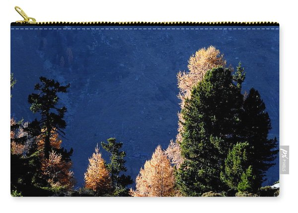 Autumn Forest In The Mountains Carry-all Pouch