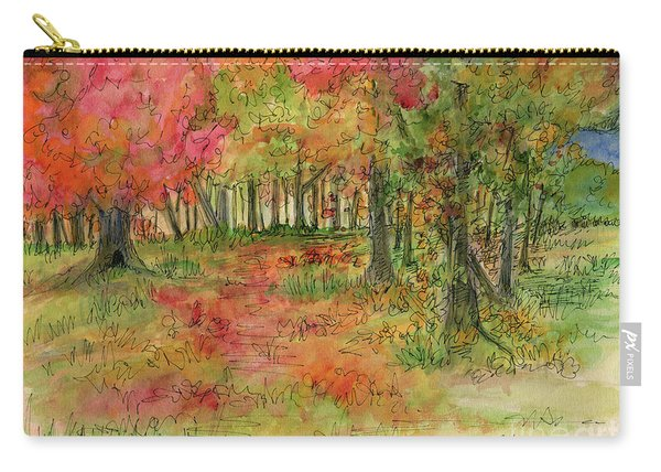 Autumn Forest Watercolor Illustration Carry-all Pouch