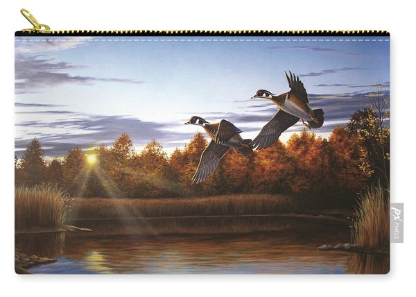 Autumn Home - Wood Ducks Carry-all Pouch