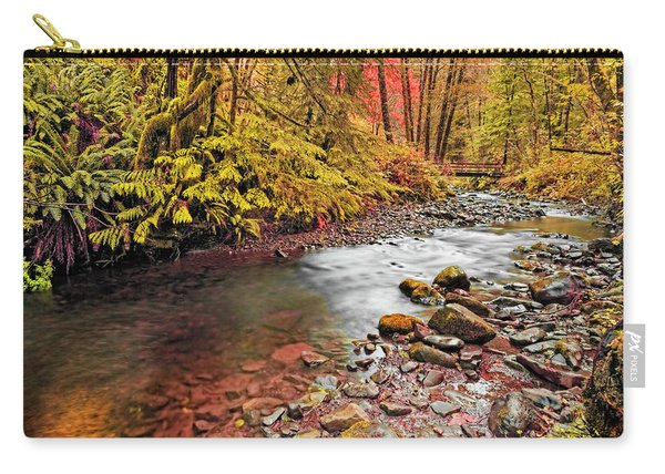 Autumn Sunrise In An Oregon Rain Forest  Carry-all Pouch