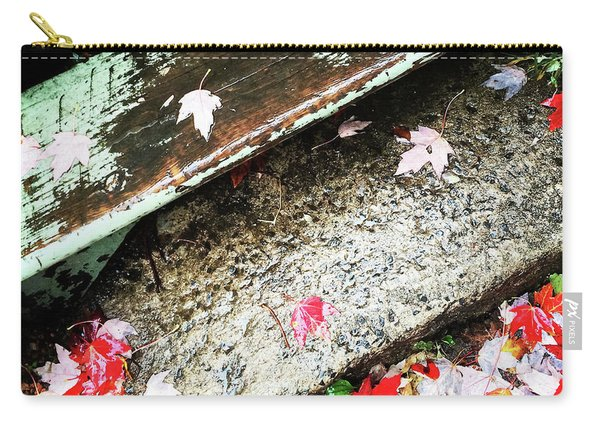 Autumn Leaves On Old Staircase Carry-all Pouch