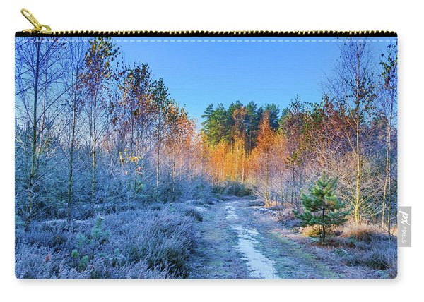 Carry-all Pouch featuring the photograph Autumn Meets Winter by Dmytro Korol