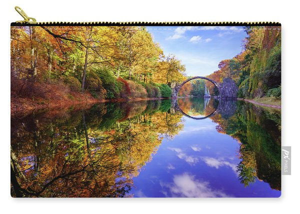 Carry-all Pouch featuring the photograph Autumn Mirror by Dmytro Korol