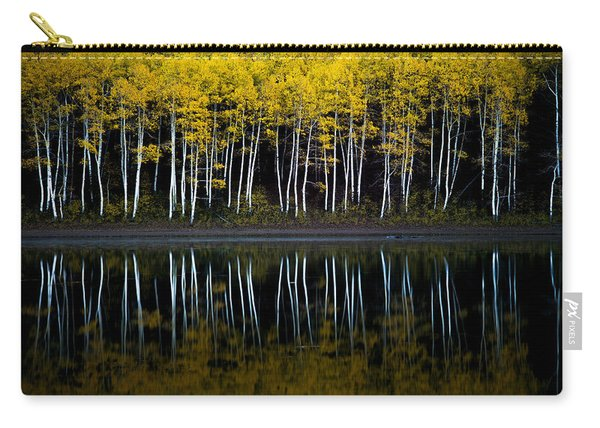 Carry-all Pouch featuring the photograph Autumn Mirror by Dustin  LeFevre