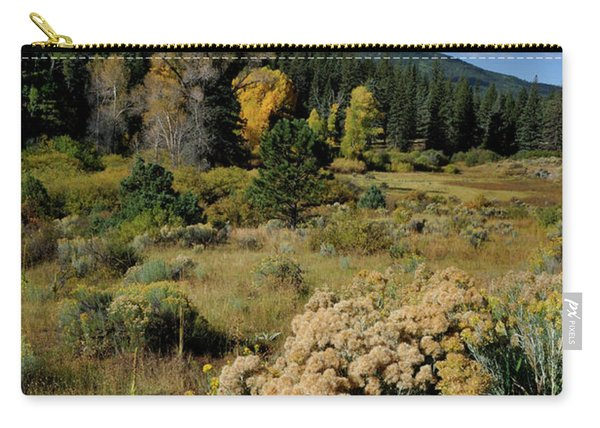 Carry-all Pouch featuring the photograph Autumn Morning In The Canyon by Ron Cline