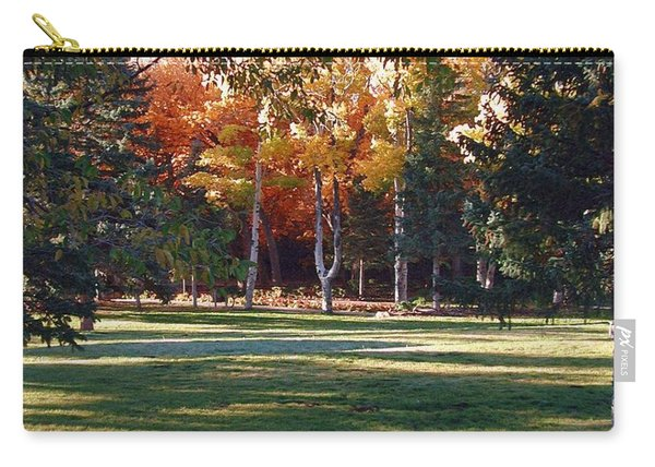 Carry-all Pouch featuring the digital art Autumn Park by Deleas Kilgore