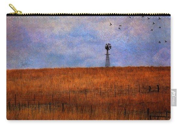 Autumn Prairie Windmill Carry-all Pouch