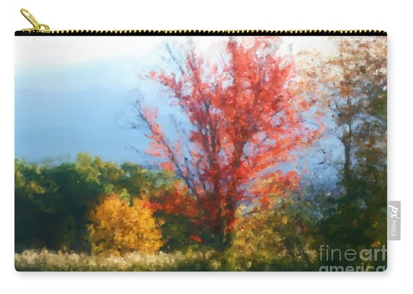 Autumn Red And Yellow Carry-all Pouch