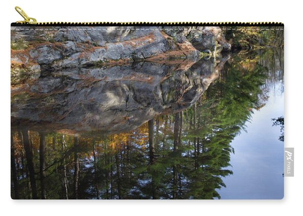 Autumn Reflections At Runaround Pond In Durham Maine  -20224 Carry-all Pouch