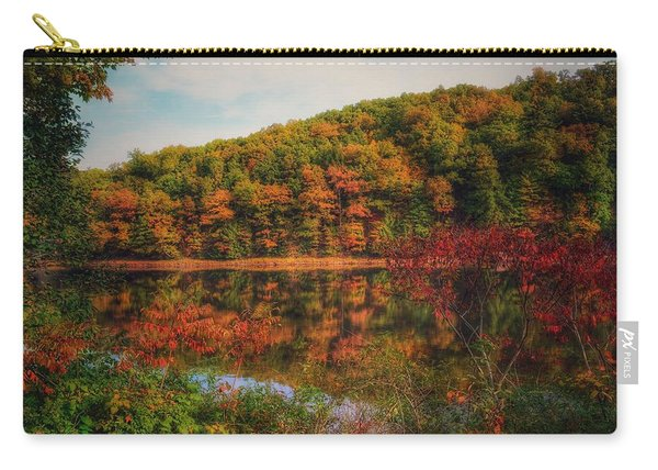 Autumn Reflections On The Clarion River Carry-all Pouch