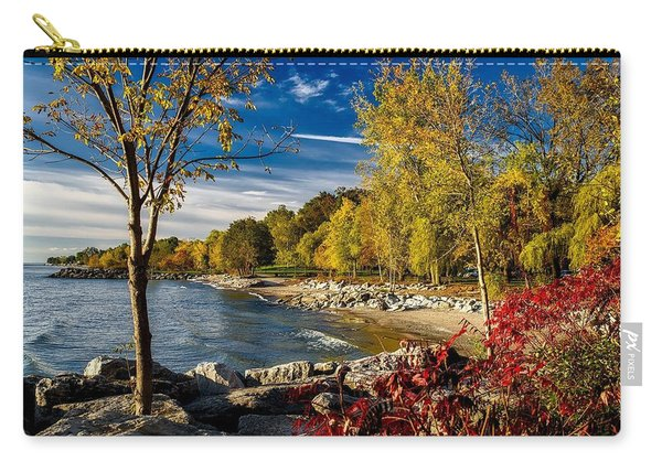 Autumn Scene Lake Ontario Canada Carry-all Pouch