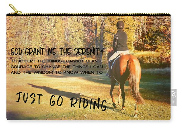 Autumn Shadows Quote Carry-all Pouch