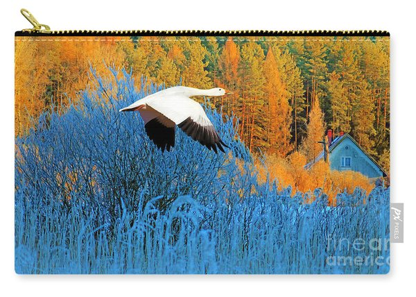 Autumn Snow Goose Carry-all Pouch