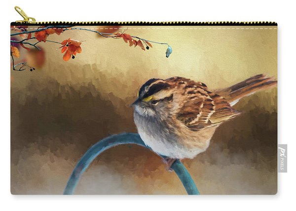 Autumn Sparrow Carry-all Pouch