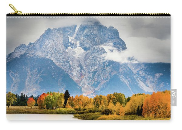 Autumn Storm Over Mount Moran Carry-all Pouch