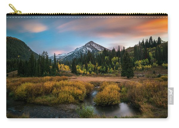 Autumn Sunset In Big Cottonwood Canyon Carry-all Pouch