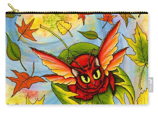 Autumn Winds Fairy Cat Carry-all Pouch