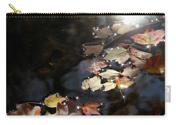 Autumn With Leaves On Water Carry-all Pouch