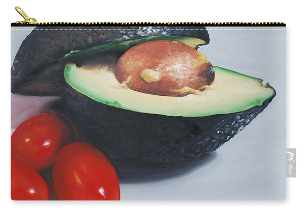 Avocado And Cherry Tomatoes Carry-all Pouch