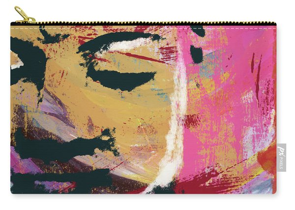 Awakened Buddha 3- Art By Linda Woods Carry-all Pouch